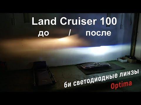 Land Cruiser 100 светодиодные фары Установка светодиодных линз в LC 100