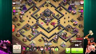 getlinkyoutube.com-Clash Of Clans | HoLo Attack Strategy | Hogs and Balloons 3 Star Attack Strategy - TH 9