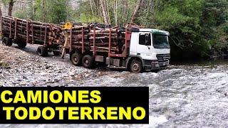 Camiones todo terreno Peligroso rio
