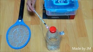 getlinkyoutube.com-How to charge a Leyden jar with an Electric fly swatter