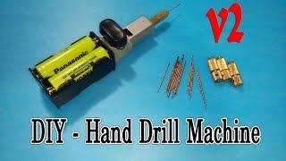 getlinkyoutube.com-How to make Hand Drill Machine mini very simple - V2