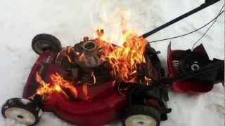 getlinkyoutube.com-Huge lawn mower fire!