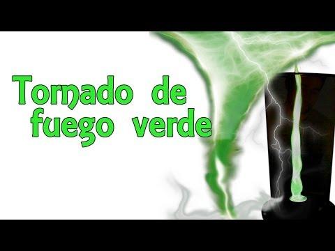 Cómo hacer un tornado de fuego verde (Experimentos Caseros)