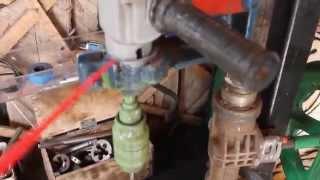 getlinkyoutube.com-Самодельный сверлильный станок из рулевой рейки ваз