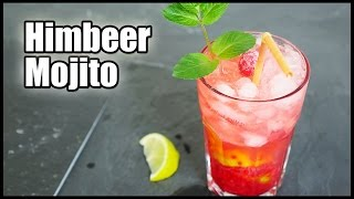 getlinkyoutube.com-HIMBEER MOJITO COCKTAIL REZEPT