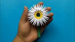 getlinkyoutube.com-Origami 3D Flor margarita
