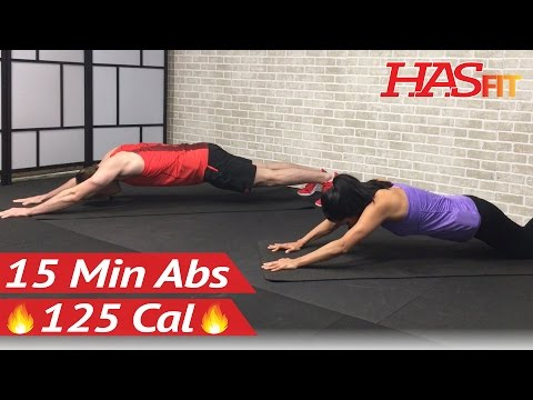 15 Minute Intense Ab Workout for Men & Women - 15 Min Abs - HIIT Abs Abdominal Exercises