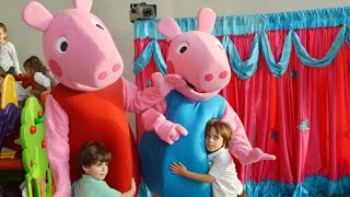 getlinkyoutube.com-Títeres PEPPA PIG - Show Happy Kids