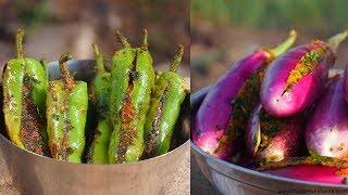 Bharwa-Baingan-Aur-Bharwa-Mirchi-Indian-Cooking-by-Nikunj-Vasoya width=