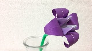 getlinkyoutube.com-簡単折り紙 ★あやめ(菖蒲)の折り方★ 立体|origami iris flower instructions [3D]