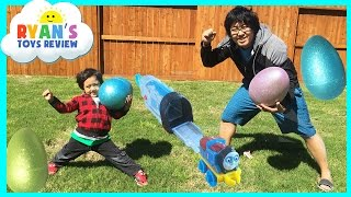 getlinkyoutube.com-HUGE Easter Eggs Hunt Surprise Toys Challenge Thomas and Friends Disney Cars McQueen Minions Marvel