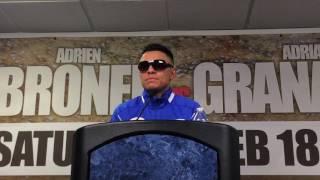 Adrian Granados post Broner fight - esnews