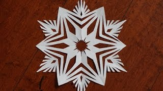 getlinkyoutube.com-Paper snowflake 1 - Detailed tutorial- Intermediate level -Can YOU do it?