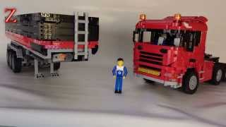 Lego technic: triple axle dump trailer