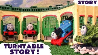 getlinkyoutube.com-Thomas & Friends Funny Prank with Tom Moss Tomas Toy Trains and Play Doh - Family Fun Story TT4U