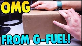 getlinkyoutube.com-OMG G-FUEL SENT ME THIS HUGE BOX! - NEW PACKAGE FROM G-FUEL!