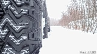 getlinkyoutube.com-Yota Breaking Trail in Deep Snow (My Bday Wheeling Part 1)