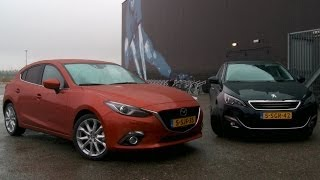getlinkyoutube.com-Mazda 3 vs. Peugeot 308 English subtitled
