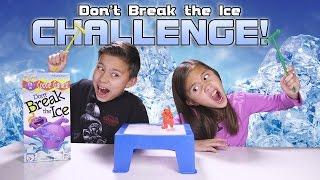 getlinkyoutube.com-DON'T BREAK THE ICE CHALLENGE! Kids Game Night with REAL ICE!