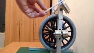 getlinkyoutube.com-Hand Permanent Magnet Motor (Not magnet free energy or perpetual motion machine)