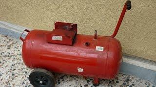 getlinkyoutube.com-Making a 50 liter silent air compressor part 1