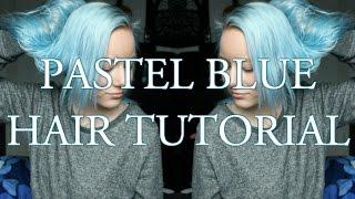 getlinkyoutube.com-Pastel blue hair tutorial