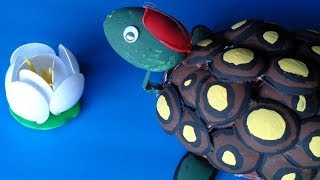 getlinkyoutube.com-DIY Recycled Projects: Plastic Spoon Crafts - How to Make a Turtle with Your Hands