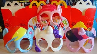 2015 Little Pony Mask Complete Set in Happy Meal McDonalds Europe Unboxing Mi Pequeño Poni