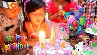 Selamat Ulang Tahun Hana ke-5. Surprise Cake Birthday Potong Kue Ulang Tahun di Rumah.Happy Birthday width=