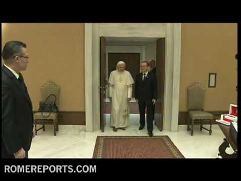 Benedict XVI welcomes the prime minister of Romania