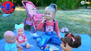 getlinkyoutube.com-✔ Кукла Беби Борн и девочка Ярослава в Парке на Пикнике / Baby Born Doll on a Picnic  ✔