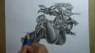 getlinkyoutube.com-Pencil Drawing - vayne