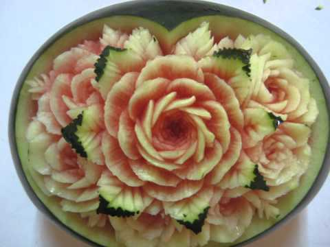 แกะสลักผักผลไม้ Fruit carving