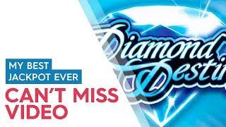 EPIC JACKPOT HANDPAY - Diamond Destiny Slot - OFF THE CHARTS!