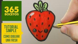 getlinkyoutube.com-COMO DIBUJAR UNA FRESA KAWAII PASO A PASO - Dibujos kawaii faciles - How to draw a strawberry