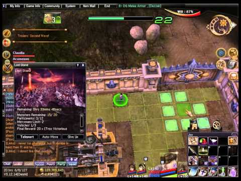 Atlantica Online TBS mission: Last Stand, solo run in squad mode 1/3