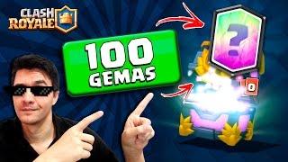 getlinkyoutube.com-GANHEI CARTA LENDÁRIA COM 100 GEMAS NO CLASH ROYALE