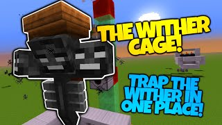 Minecraft | THE WITHER CAGE | Freeze The Wither In Place! | Survival Friendly (Minecraft Redstone)