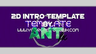 [#111] Free2Use 2D Purple Intro Template by AntFX   (Blender Only)