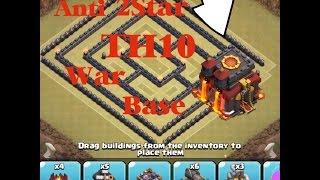 getlinkyoutube.com-Anti 2Star TH10 War base ( 99% 1 star )  - Clash of clans