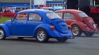 getlinkyoutube.com-VW Käfer Beetle 1300 vs Volkswagen Beetle 1600 - 1/4 Mile Drag Race Viertelmeile Rennen
