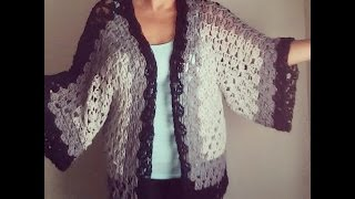 getlinkyoutube.com-Easy crochet cardigan or sweater