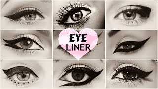 10 Different Eyeliner Styles (in 3min)