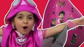 Paw Patrol GIANT SURPRISE EGG And Toy Play Zoomer, Chase, Marshall, Lookout Tower Play Set And MORE!