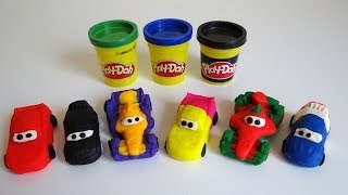 getlinkyoutube.com-Play Doh Disney Pixar Cars 2 Grand Prix Race Mats