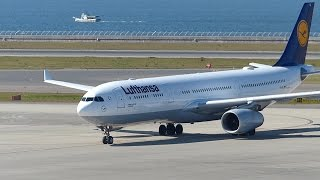 getlinkyoutube.com-初飛来!Lufthansa Airbus A330-343 D-AIKL Landing at Nagoya