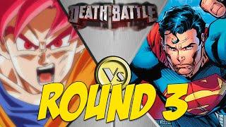 getlinkyoutube.com-Super Saiyan God Goku VS Superman Round 3 - CPU VS CPU | Dragon Ball Z: Budokai Tenkaichi 3 MODS