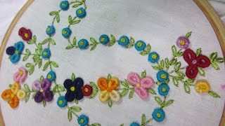 getlinkyoutube.com-Hand Embroidery Designs | Design for dresses | Stitch and Flower-74
