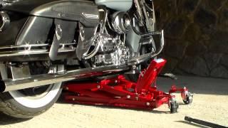 getlinkyoutube.com-Road King and Hydraulic Motorcycle Lift