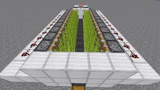 getlinkyoutube.com-Minecraft 完全シンメトリー型(左右対称) 全自動BUDサトウキビ畑